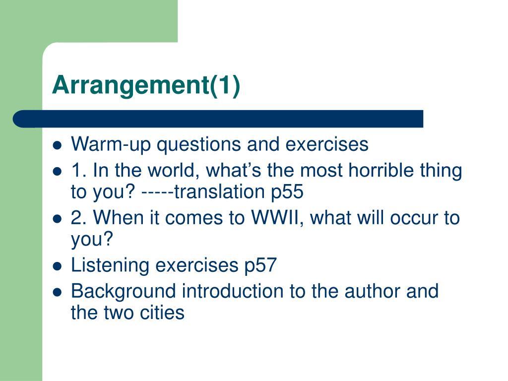 Arrangement(1)