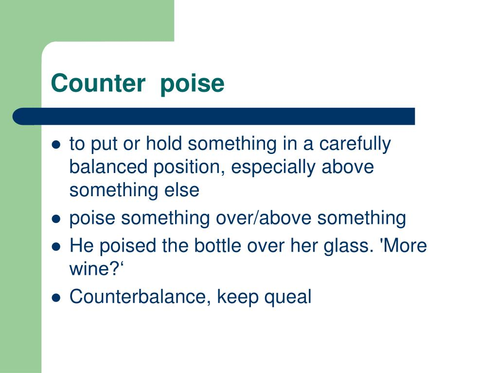 Counter  poise