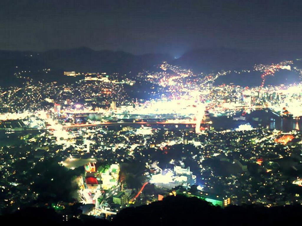 The night view of Nagasaki City