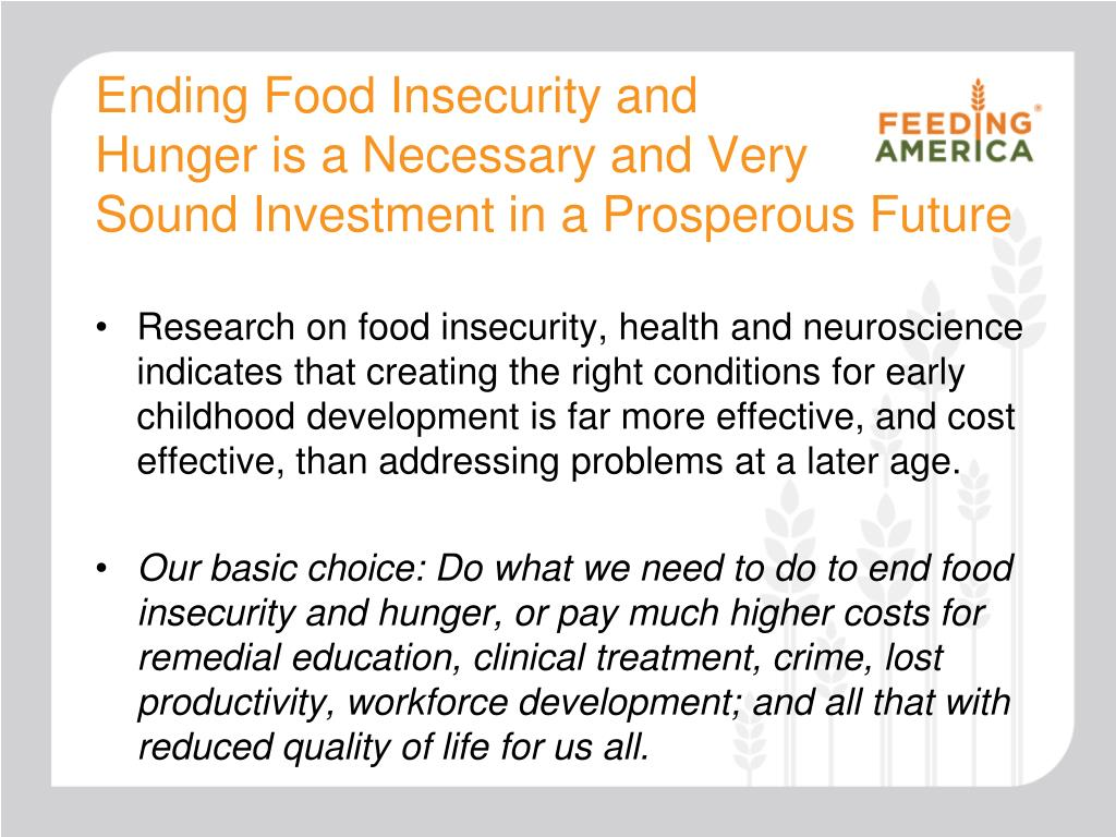 Ending Food Insecurity and
