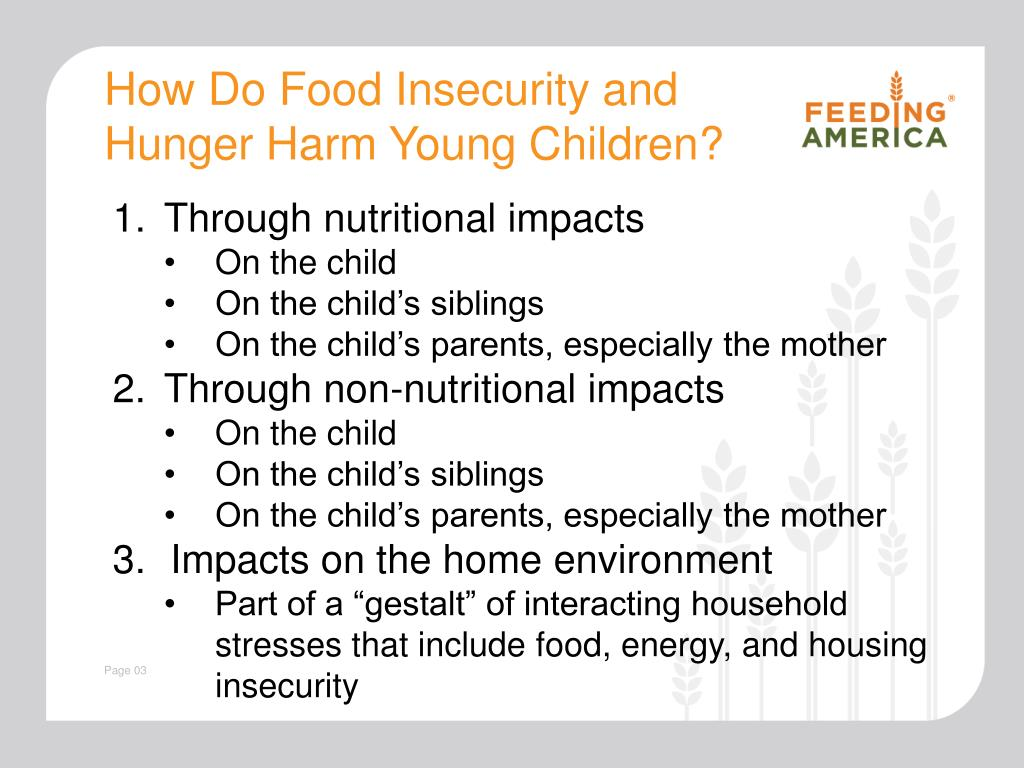 How Do Food Insecurity and