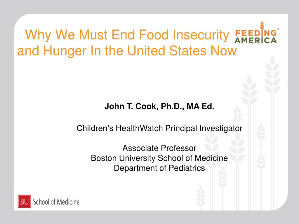 Why We Must End Food Insecurity and Hunger In the United States Now