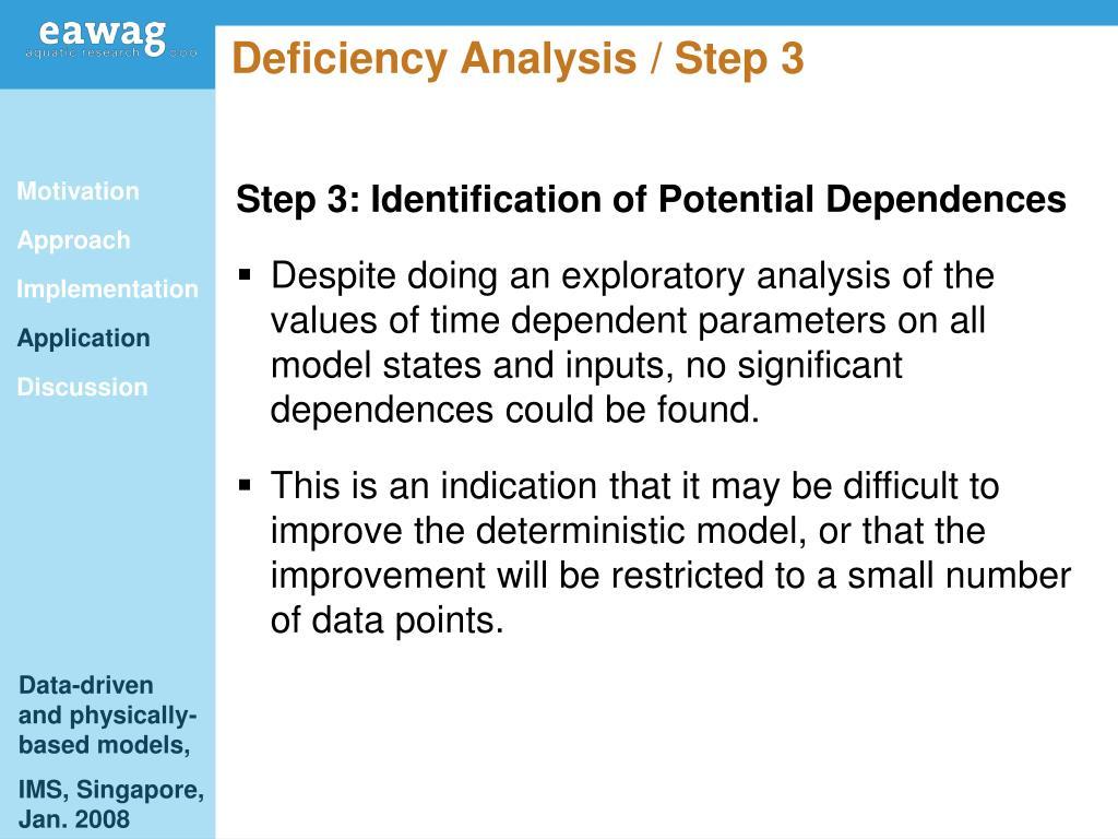 Deficiency Analysis / Step 3
