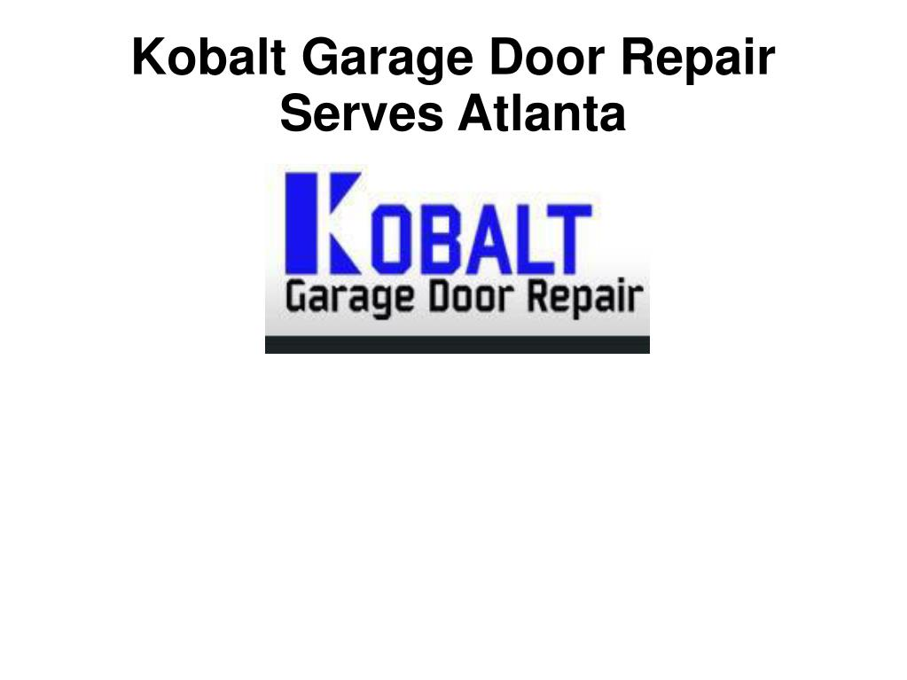 Kobalt Garage Door Repair Serves Atlanta