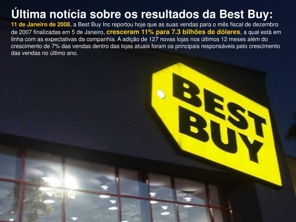 Última notícia sobre os resultados da Best Buy: