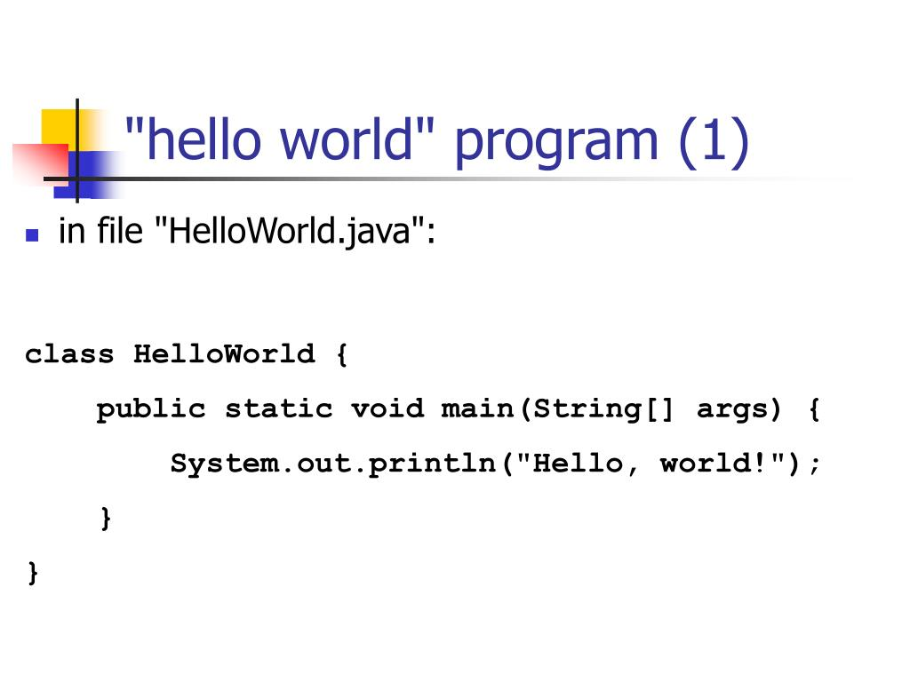 """hello world"" program (1)"