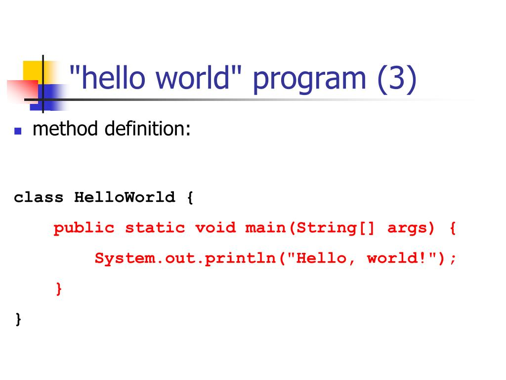 """hello world"" program (3)"