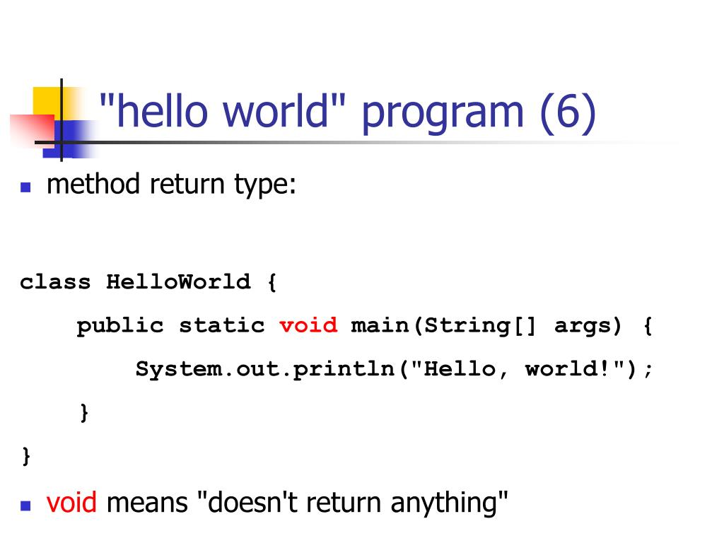 """hello world"" program (6)"