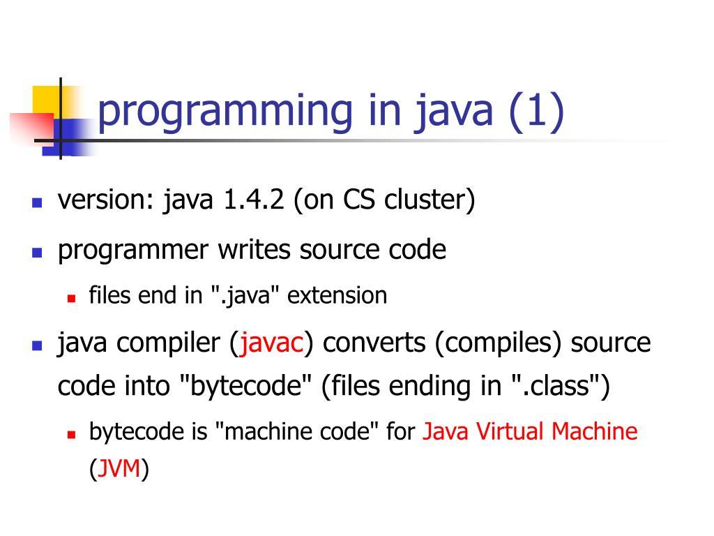 programming in java (1)