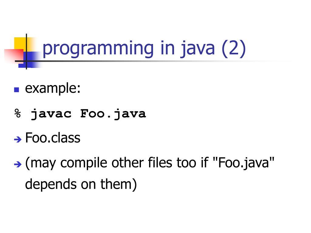 programming in java (2)