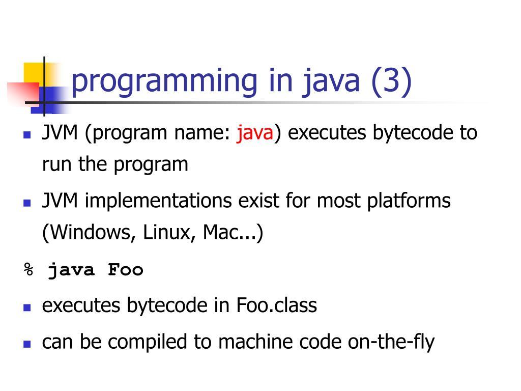 programming in java (3)