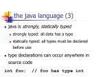the java language 3