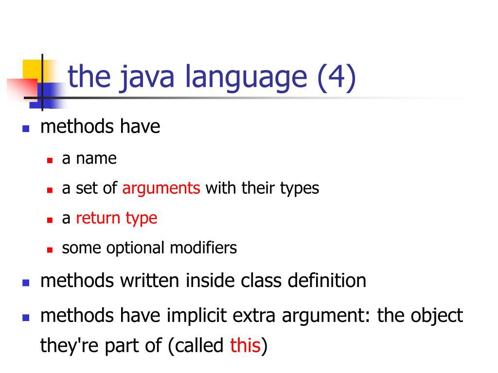 the java language (4)
