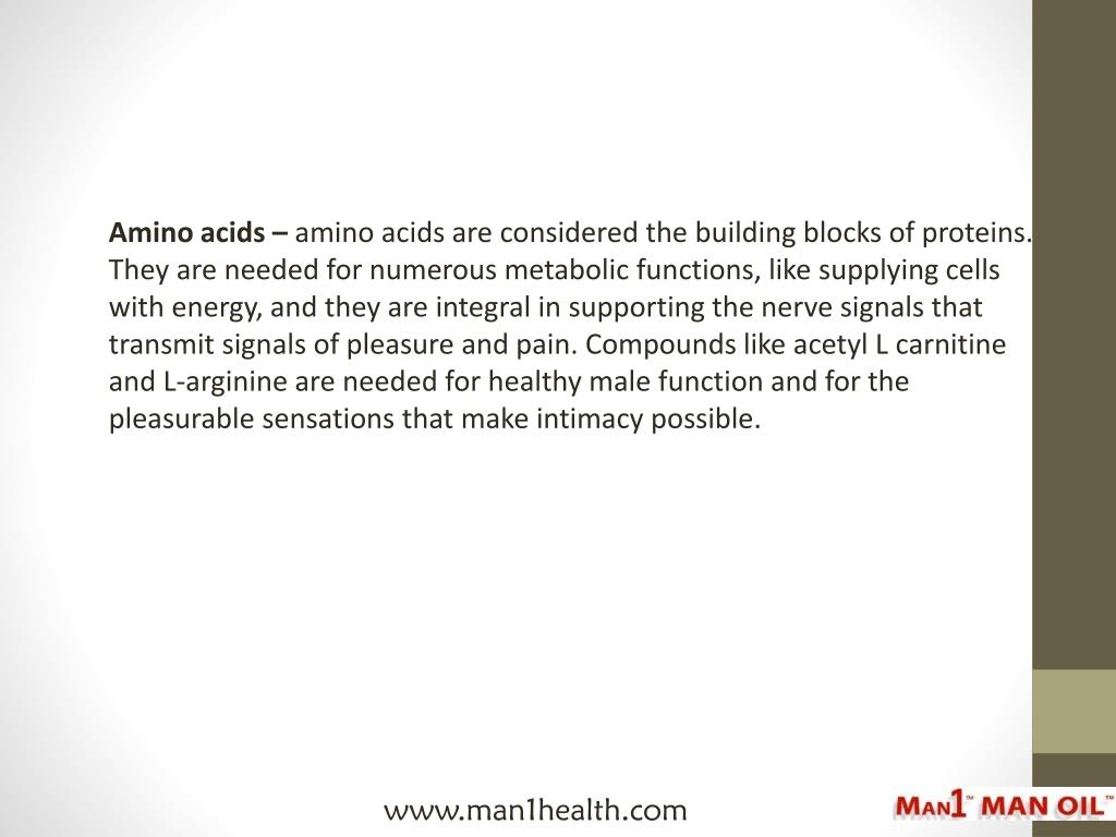 Amino acids –