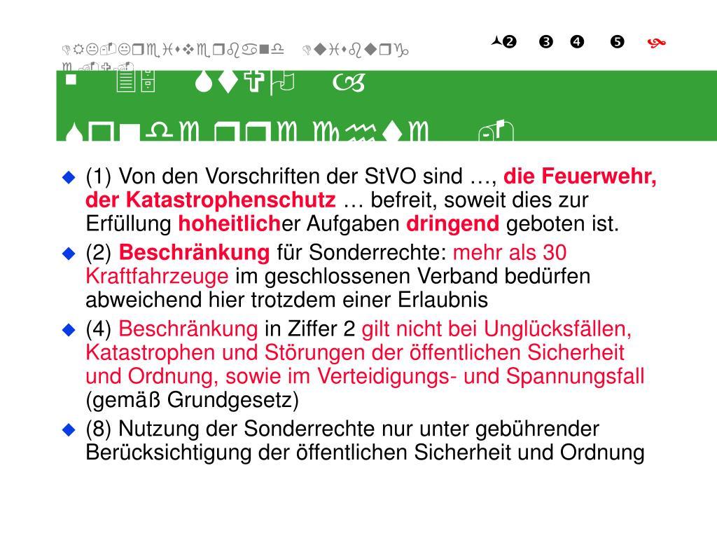 § 35 StVO – Sonderrechte -