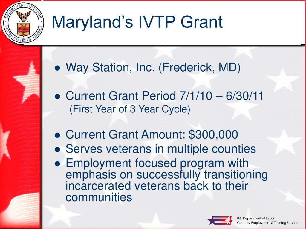 Maryland's IVTP Grant