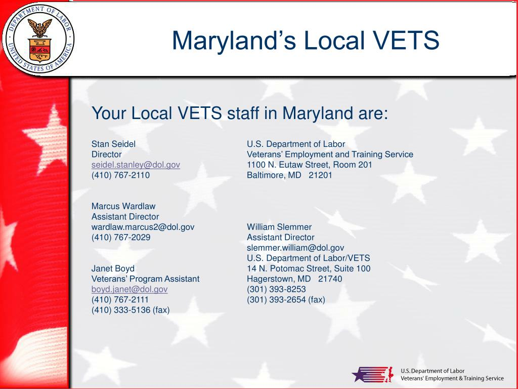 Maryland's Local VETS