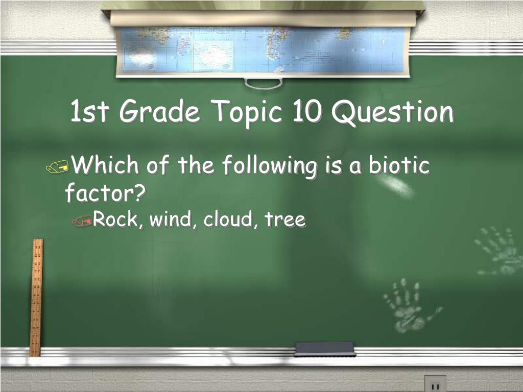 1st Grade Topic 10 Question