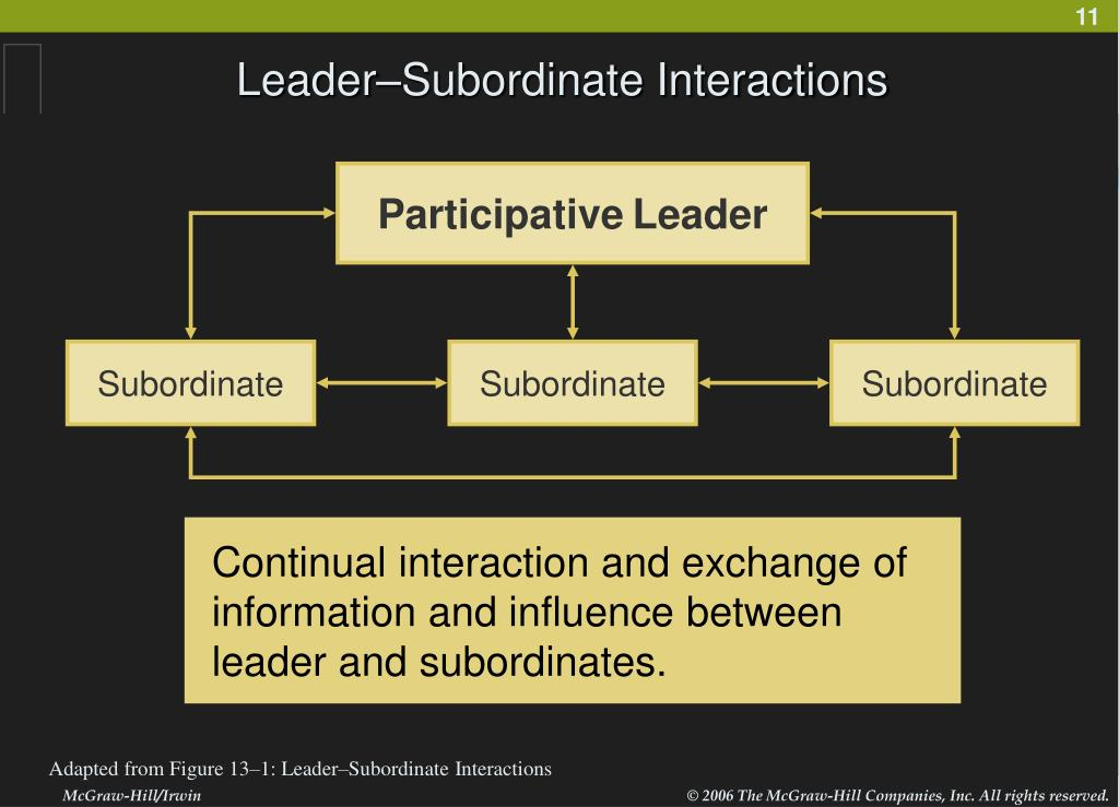 Leader–Subordinate Interactions