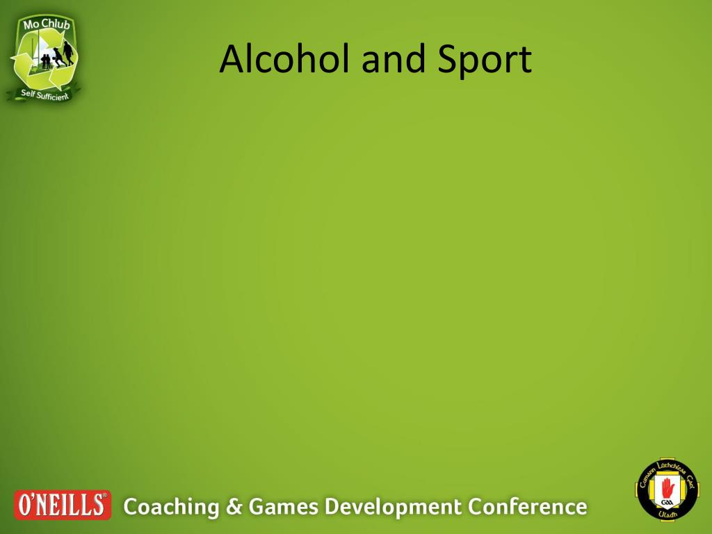Alcohol and Sport