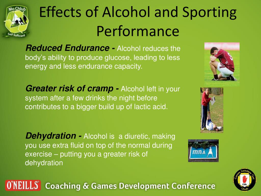 Effects of Alcohol and Sporting Performance