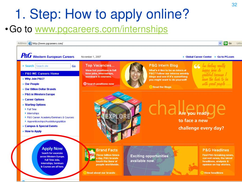 1. Step: How to apply online?