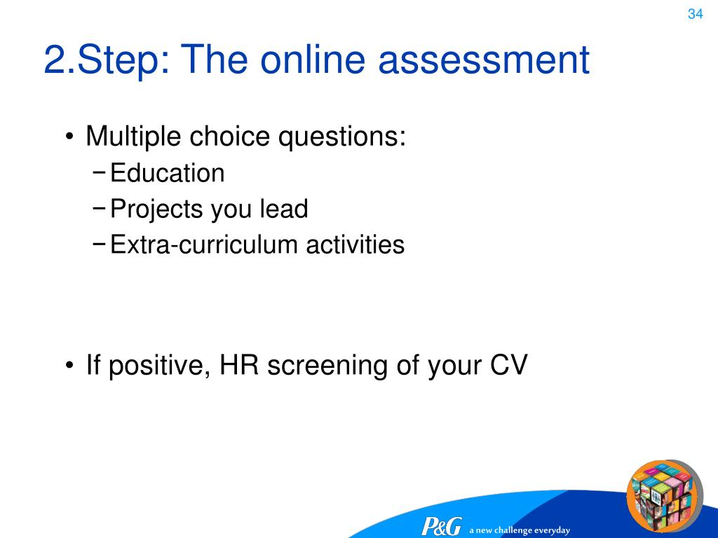2.Step: The online assessment