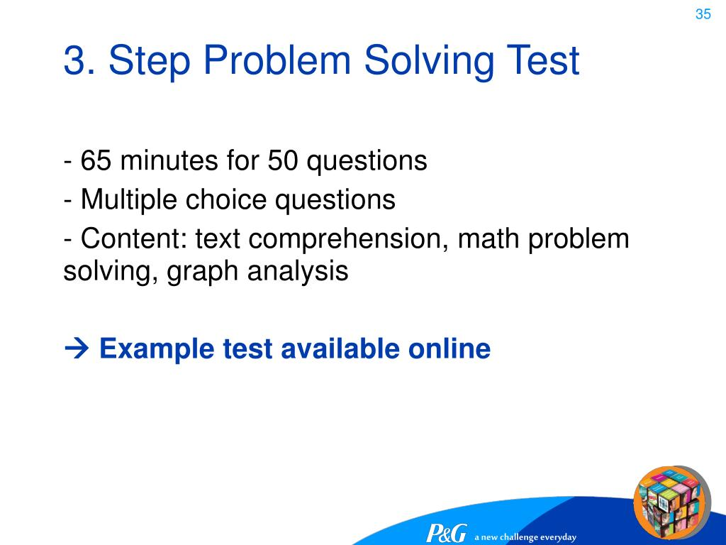 3. Step Problem Solving Test