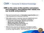 cmk consumer market knowledge