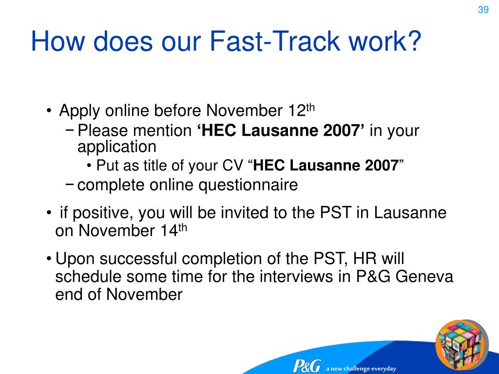 How does our Fast-Track work?