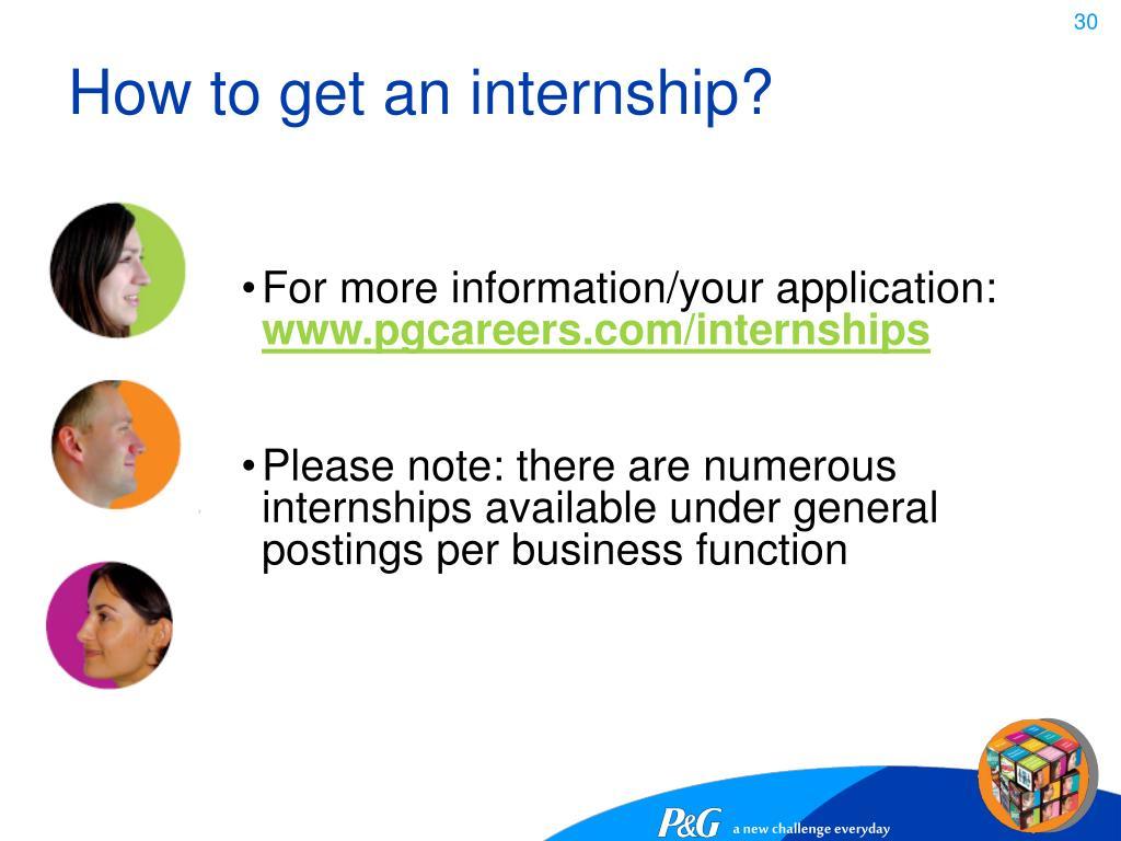 How to get an internship?