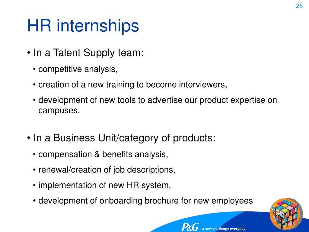 HR internships
