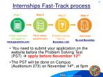 internships fast track process