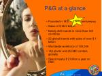 p g at a glance