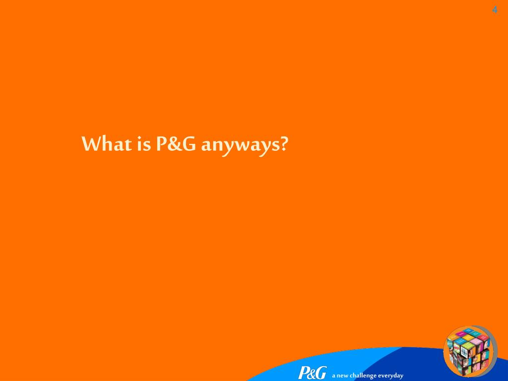 What is P&G anyways?