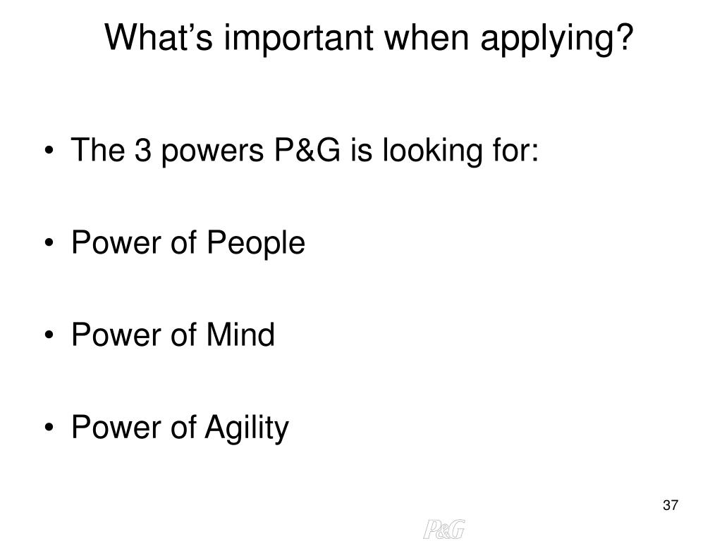 What's important when applying?