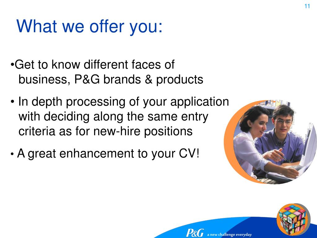 What we offer you:
