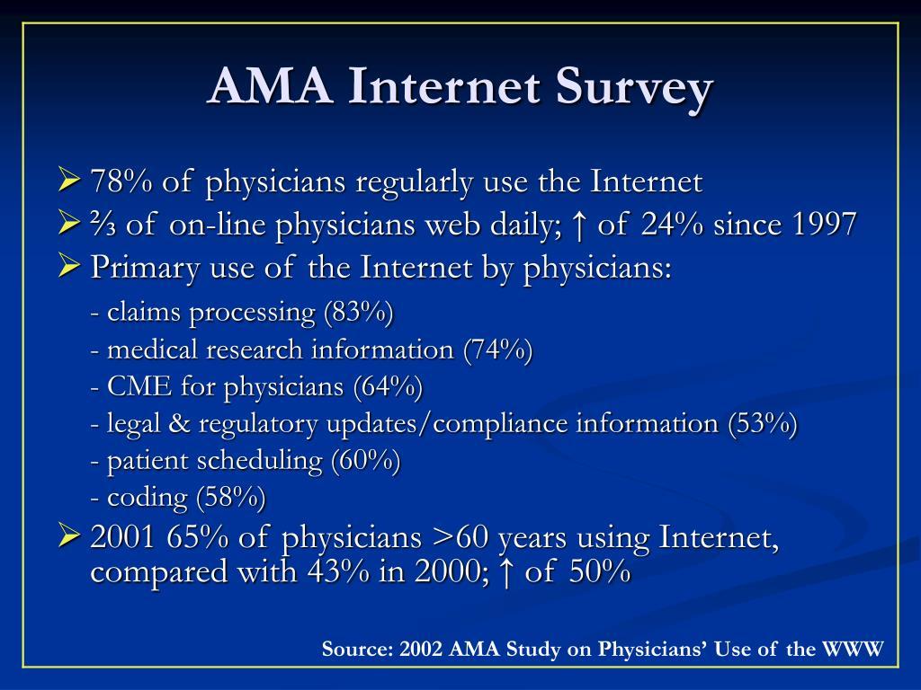 AMA Internet Survey