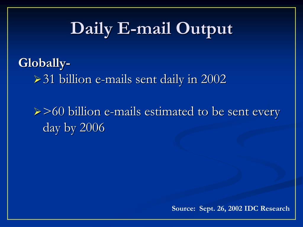 Daily E-mail Output