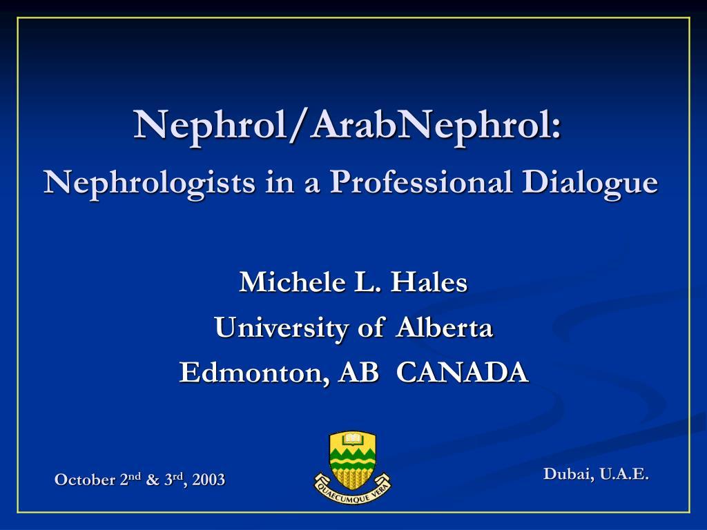 Nephrol/ArabNephrol: