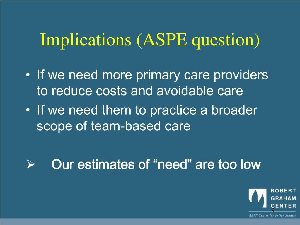 Implications (ASPE question)