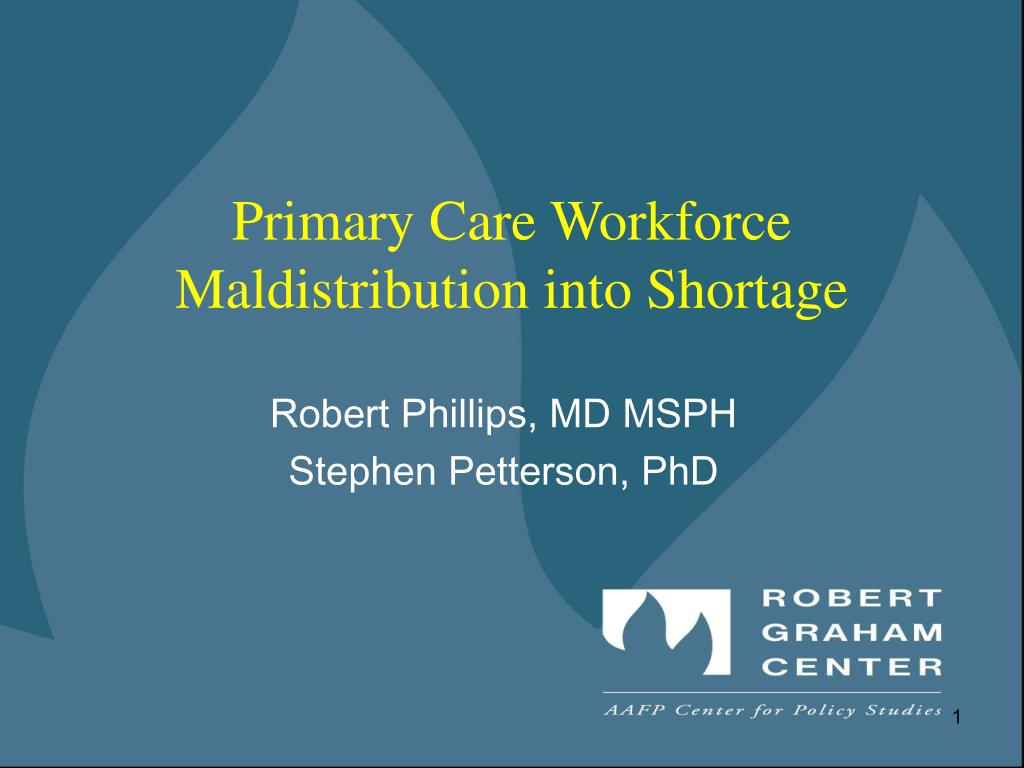 Primary Care Workforce