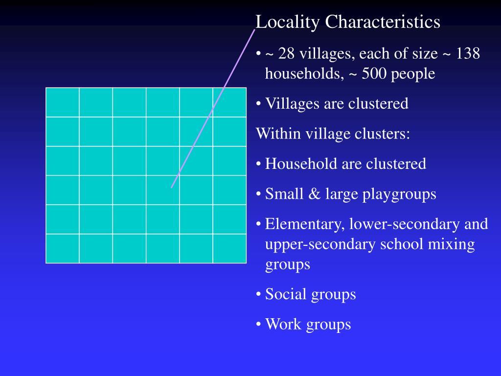 Locality Characteristics