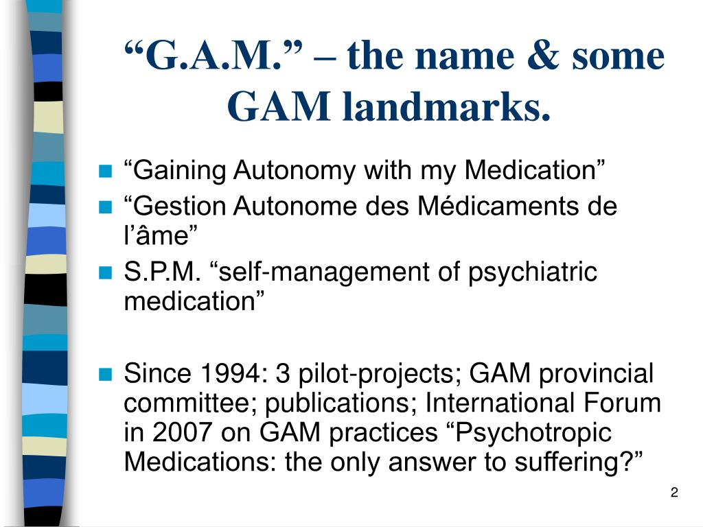 """G.A.M."" – the name & some GAM landmarks."
