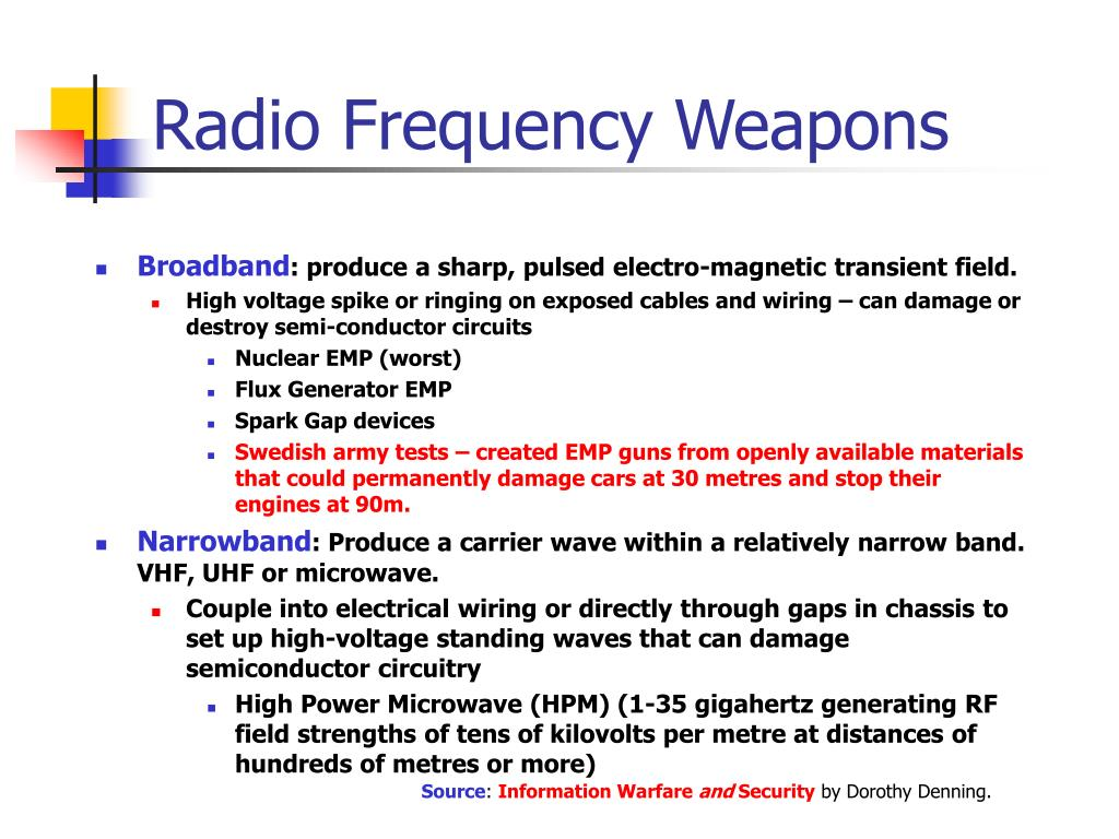 Radio Frequency Weapons