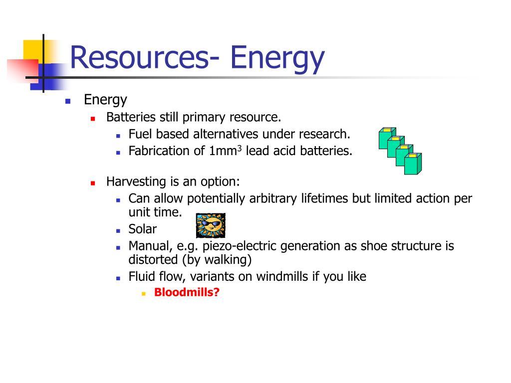 Resources- Energy