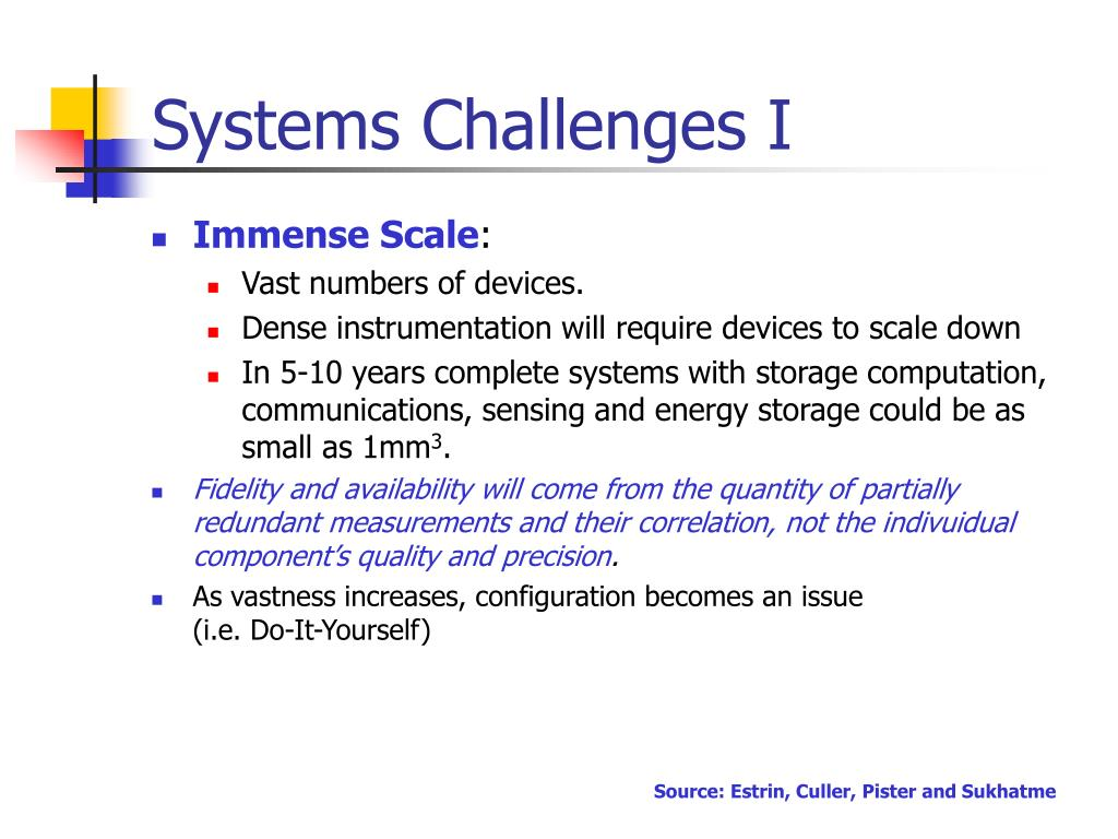Systems Challenges I