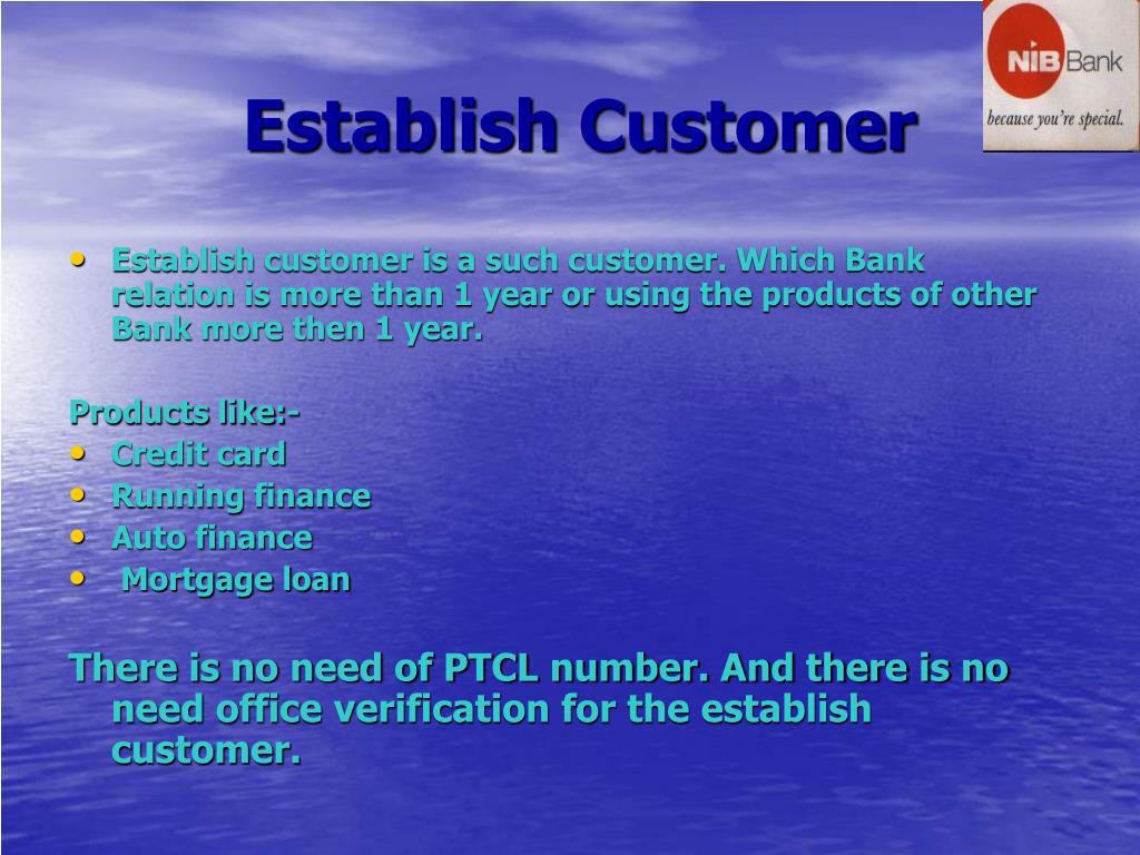 Establish Customer