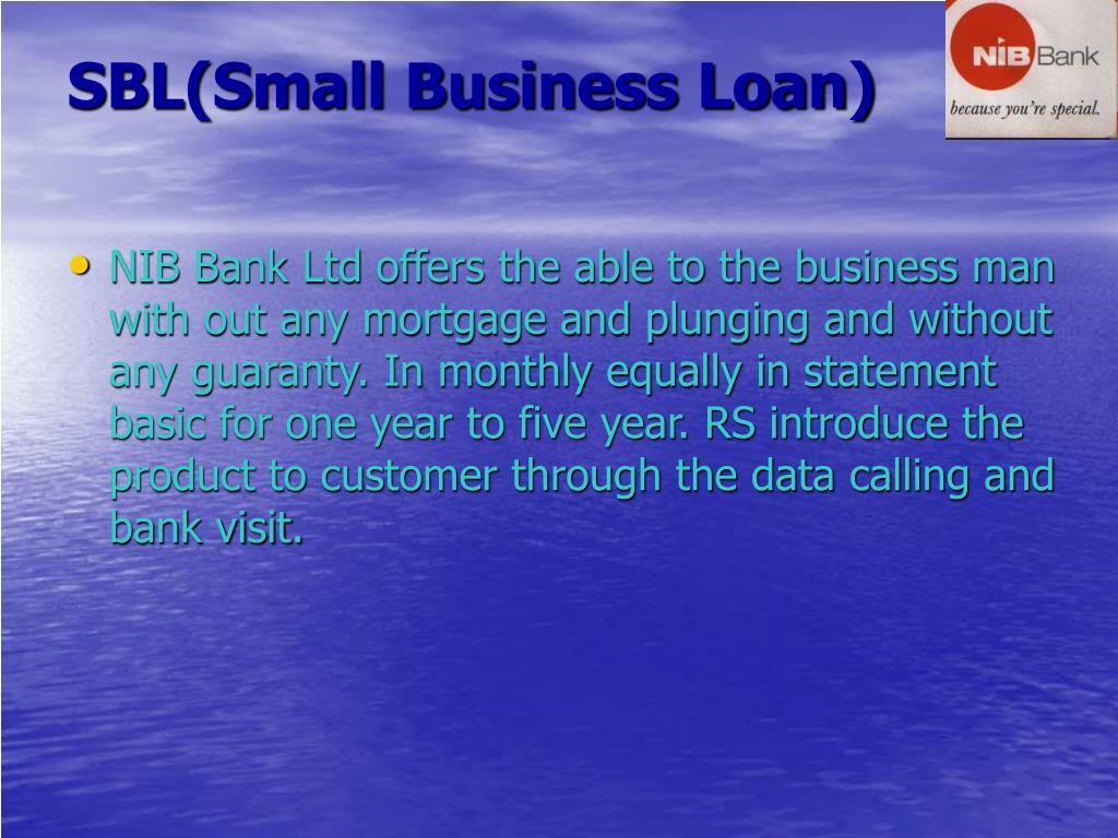 SBL(Small Business Loan)