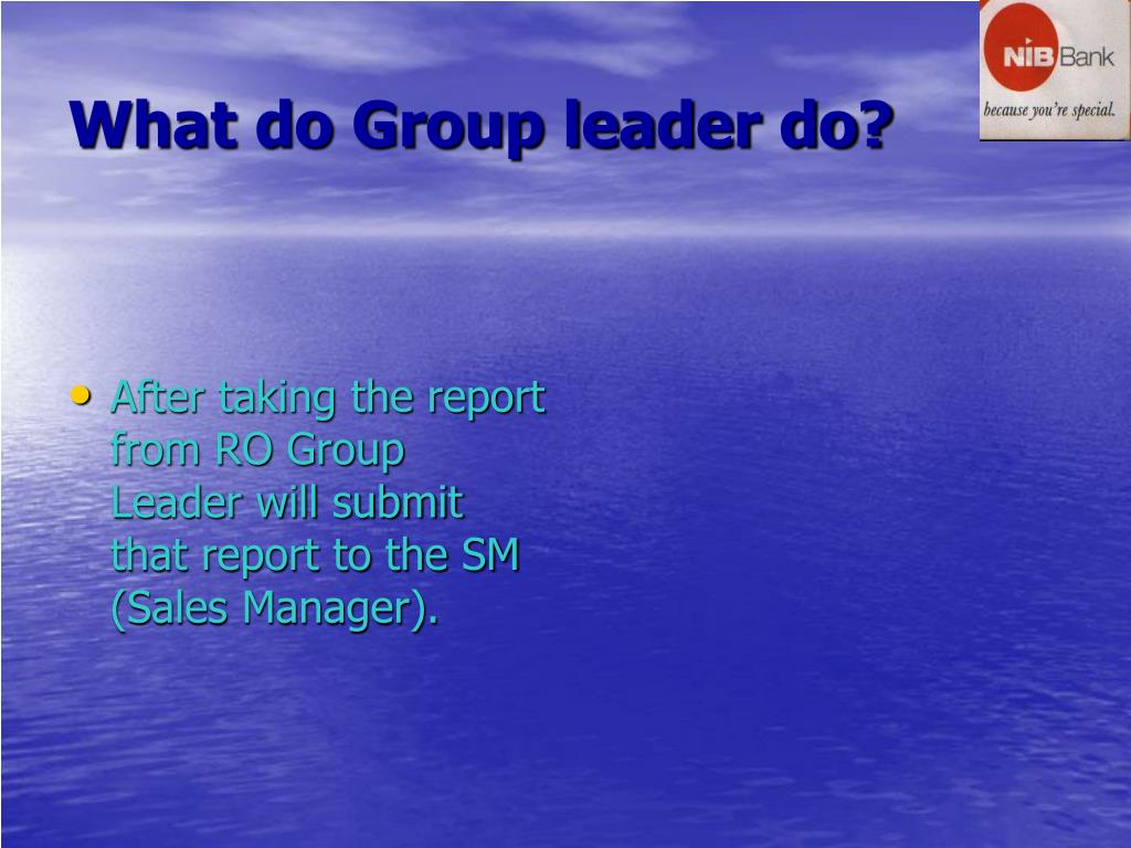 What do Group leader do?